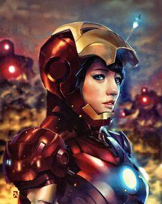 Iron Woman - Pepper Pots byAndrey Pratama