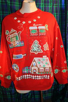 Nutcracker red Ugly Christmas sweater sweatshirt by revampdcouture