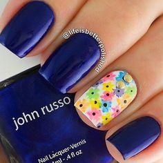 Azul y primavera