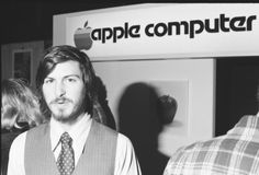 Steve Jobs, co-founder of Apple Computer Inc, at the first West Coast Computer Faire, where the Apple II computer was debuted, in Brooks Hall, San Francisco, California, April 16th or 17th, 1977