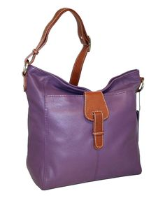 Loving this Grape Heaven Leather Hobo on #zulily! #zulilyfinds