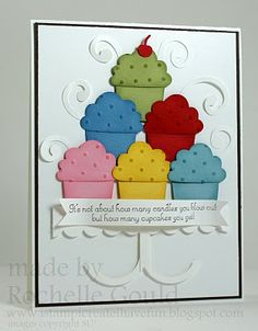 Cupcake tier using build a cupcake punch from StampinUp.