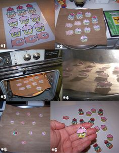 "Making Shrinky Dinks - good for trauma processing and metaphor of ""shrinking"" anxiety Plastic Fou, Shrink Plastic Jewelry, Crafts To Do, Craft Projects, Crafts For Kids, Shrink Art, Shrink Film, Shrinky Dinks, Resin Crafts"
