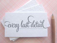 ooohhh pretty letterpress & pretty fonts