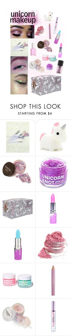 """""""Unicorn Makeup"""" by sarah-who ❤ liked on Polyvore featuring beauty, Forever 21, Lime Crime, FCTRY, Estée Lauder, MAC Cosmetics, BeautyTrend, contestentry and unicornmakeup"""