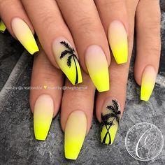 Neon Yellow Nails, Yellow Nails Design, Yellow Nail Art, Neon Nails, Pastel Yellow, Matte Nails, Neon Nail Art, Acrylic Nails Yellow, Stiletto Nails