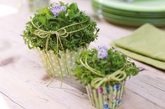 Muffins, Place Cards, Bloom, Place Card Holders, Deco, Plants, Board, Table, Centerpieces