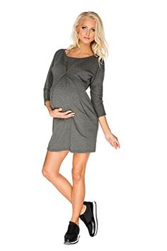 3c2a2c023e6c5c My Tummy Womens Maternity Dress Paula Sporty Comfortable Heather Grey Gray  XL Xlarge >>> You can get additional details at the image link.