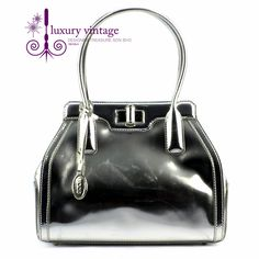 Tod's Novelty New Bag Mini Silver color Patent Leather Fair Condition PriceRm9xxRef.code-(GRES-1) More Info Pls PM Or Email  ( luxuryvintagekl@ gmail.com )
