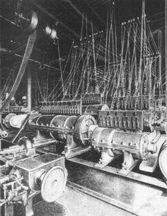 Dynamo tone generators of the gigantic 'Telharmonium' electronic instrument c1910