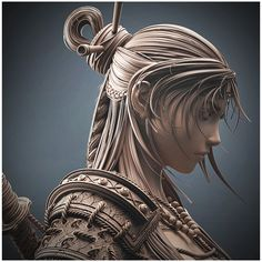 Zbrush Character, 3d Model Character, Character Modeling, Character Art, Character Design, Fantasy Samurai, Urban Samurai, Human Sculpture, 3d Figures