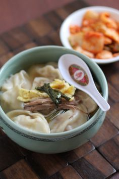 만두국 (mandoo) Korean dumpling soup...