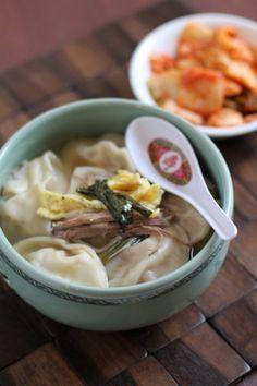 만두국 (mandoo) Korean dumpling soup...