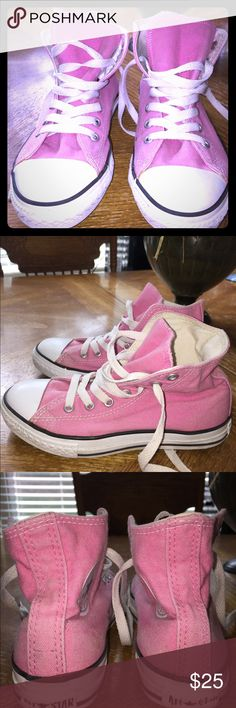 Pink High Top Converse Size 2.   Pink Very Good Condition Converse In High Top Converse Shoes Sneakers