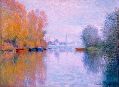 Artist Name: Claude Monet Nationality & Life Dates: French, 1840–1926 Title: Autumn on the Seine, Argenteuil Date: 1873 Medium: Oil on canvas