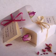little rose geranium soap - wedding favour Soap Wedding Favors, Soap Favors, Wedding Cakes, Wrapping Ideas, Gift Wrapping, Soap Packing, Medieval Wedding, Rose Soap, Little Rose