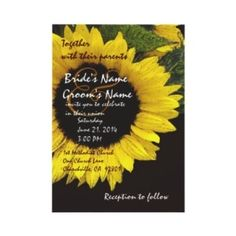 Bright Sunflower Wedding Metallic...neat wedding invitation idea