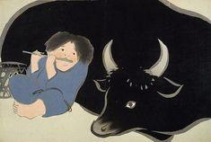 Kamisaka SEKKA (Japan 1866–1942) Momoyo-gusa: Ni, 1909. Bokudô [A cowboy]; 29.8 x 44.5cm, colour woodcut