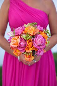 Hot Pink and Orange