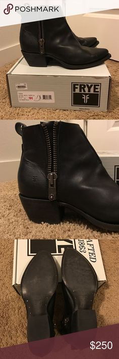 Frye Sacha Moto Shortie Bootie-Black Brand new beautiful frye booties. Never worn. new in box! Frye Shoes Ankle Boots & Booties