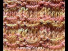 To work this stitch, you will need to know how to knit, purl, and slip stitches with yarn in front. For written instructions and more info, visit the blog: h...