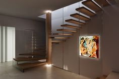 Structural glass stairs are one of our specialties. In 1995 Christian Siller built his first glass staircase with a structural glass railing. At this time no one ever thought that the architectural gl… Glass Stairs, Glass Railing, Floating Stairs, Furniture Showroom, Furniture Design, Cantilever Stairs, Decoration, Modern Architecture, Nice
