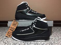 AIR JORDAN 2 RETRO Black White Nike II 1 3 4 6 11 12 13 DB Just Don C Candy 5.5Y