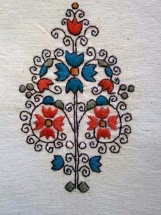Costume and Embroidery of Sárköz, Hungary Hungarian Embroidery, Folk Embroidery, Learn Embroidery, Butterfly Embroidery, Vintage Embroidery, Floral Embroidery, Chain Stitch Embroidery, Embroidery Stitches, Embroidery Designs