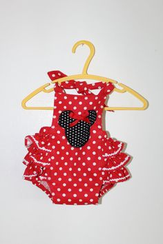 Minnie Mouse ruffled romper by SouthernBlush on Etsy, $30.00 for demi