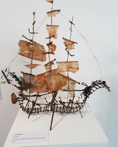 Jo Delafons, boat fashioned from found material. see more at www.jodelafons.com  www.weststreetloft.co.uk