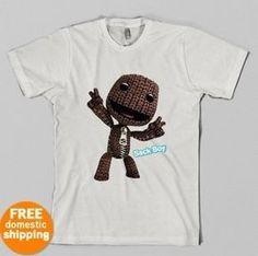Little Big Planet Sackboy tee LBP video games white Adult Youth Toddler T-shirt  $16.55 #teesrus #bonanza store