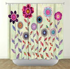 Shower Curtain - Add some fun and flair to your bathroom with stylish and artistic bathroom accessories from DiaNoche Designs. Rest assured, all of your friends won't have the same items for once! #homedecor http://www.dianochedesigns.com/ #dianochedesigns #art#bedding#duvetcovers#showercurtains#illuminatedart#art#custom#lighted#gift#livingroom