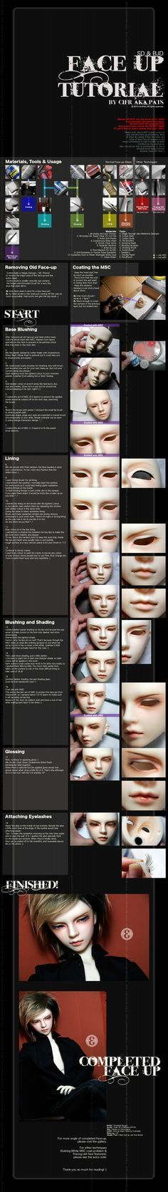 make up bjd
