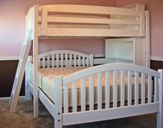 l shaped bunk beds twin over queen - Google Search