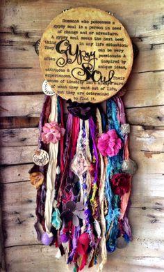 Gypsy Soul Tambourine by AlamoCandelaria on Etsy, $56.00