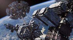 Soaring INTERSTELLAR Spaceship Concept Art by Steve Burg « Film Sketchr