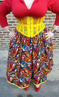 flyingpurplehippos.com: What I Wore - Wonder Woman skirt