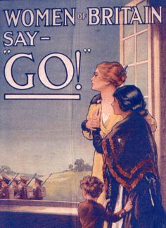 World War One recruitment poster | More here: http://mylusciouslife.com/period-dramas-and-historical-movies/