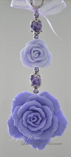 Zeepketting, zeeprozen lila/paars