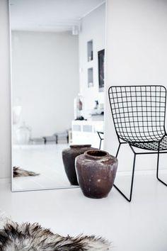 Elegant Skandinavisches Design Einrichtungsbeispiele Wandspiegel Ohne Rahmen