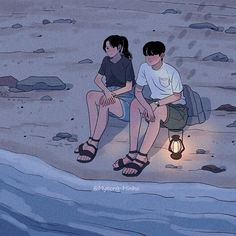 to busy loving you to fall for somebody new. Cute Couple Drawings, Cute Couple Art, Anime Love Couple, Cute Anime Couples, Cute Drawings, Cute Cartoon, Cartoon Art, Beach Drawing, Arte Indie