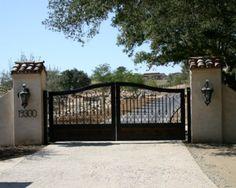 driveway entrance - automatic iron gate