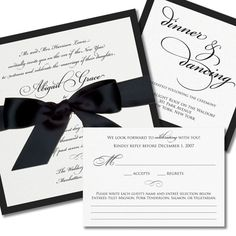 Obviously I would want black and white invitations @Rochelle Weeks Swartz