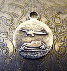 Saint Christopher Medal Vintage Silver, Be My Guide Protect Me, Automobile Car & Airplane Plane, Protector And Patron Of Travelers Vacation