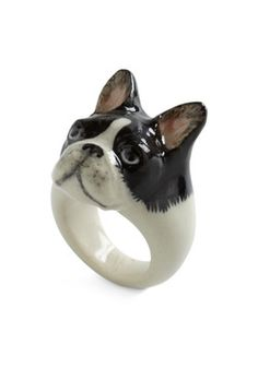 Constant Companion Ring in French Bulldog, #ModCloth - Hermegerd I want this sooo baaaad.
