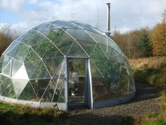 A geodesic dome green house
