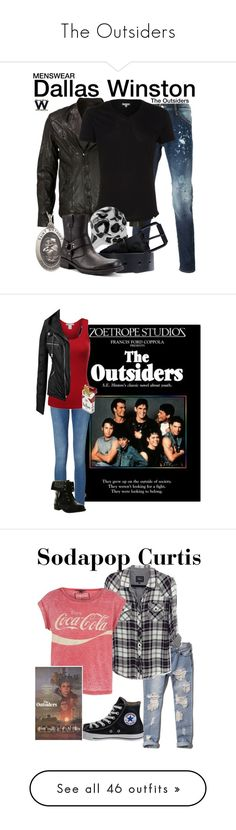 """The Outsiders"" by laceyleanne18 ❤ liked on Polyvore featuring quotes, words, the outsiders, Dsquared2, VIPARO, Orlebar Brown, Alexander McQueen, Saturdays, Kenneth Cole and wearwhatyouwatch"