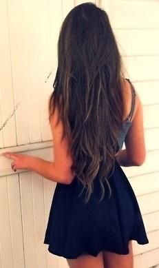 long brown waves want my hair this long