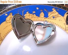 SALE 1 Locket Charms Double picture areas silver by jjmjewelry
