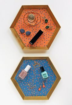 DIY Vanity Trays | Add Mod Podge and Scrapbook Paper to these trays | Upcycle plastic tray | Mod Podge Crafts
